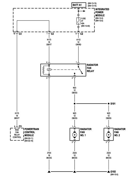 automotive cooling fan wiring diagram for 05 dodge caravan