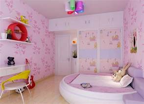 girls pink bedroom design 10 beautiful wallpaper designs for girl s bedroom rilane