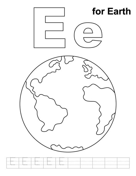 template of earth earth template printable az coloring pages