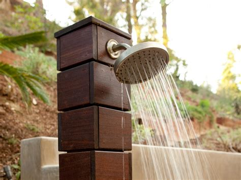 outdoor showers design ideas outdoor showers and tubs outdoor spaces patio ideas decks gardens hgtv