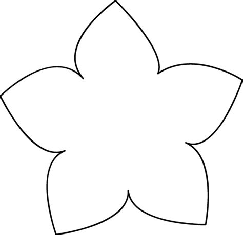 easy flower template best photos of simple flower stencil flower stencil