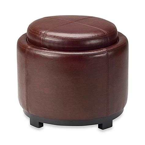 safavieh hudson leather chelsea tray ottoman www bedbathandbeyond buy safavieh hudson leather chelsea tray ottoman in cordovan from bed bath beyond
