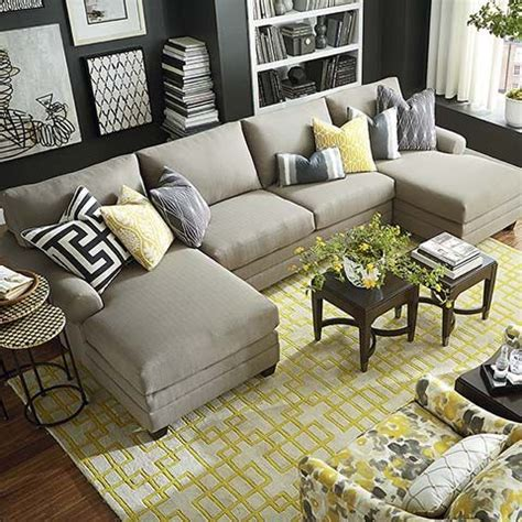 hgtv home design studio at bassett cu 2 hgtv home design studio cu 2 double chaise sectional by