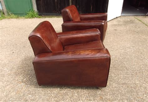 vintage leather armchair uk antique furniture warehouse vintage leather chairs pair of 1930s leather club