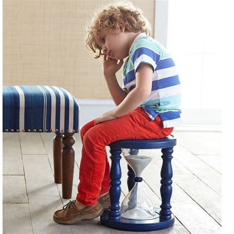 time out bench toddler diy sand hourglass time out stool with plastic drink bottles