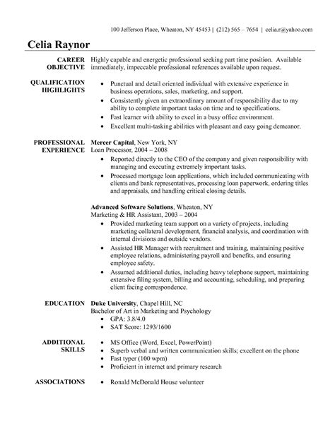 sle objective on resume for administrative assistant free sle resumes