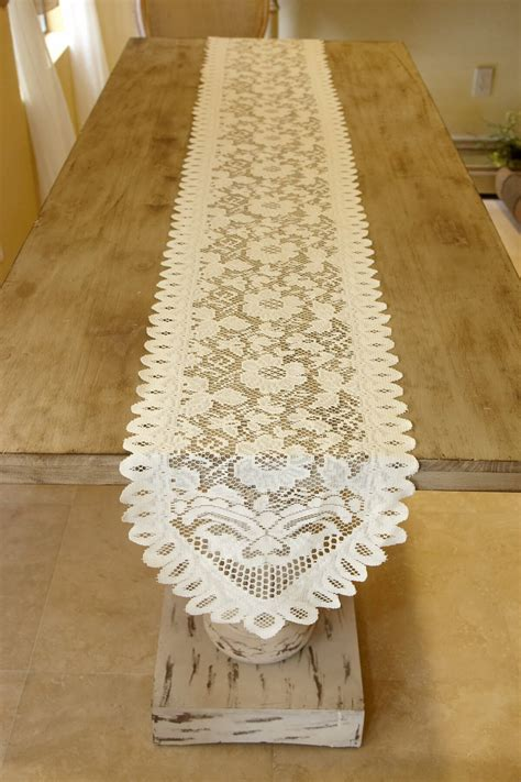 Ivory Lace Table Runner by Table Runner Lace Ivory 13 X 96in