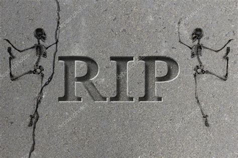 metal engraved mockup engraved gravestone rip skeleton stock photo