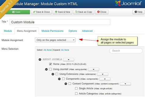 how to create a custom html module for the joomla template