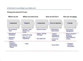 It Strategy Template by Sle Strategic Plan Templates 10 Free Documents In