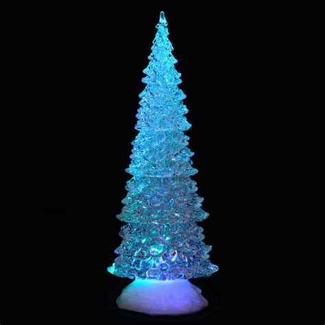 light up acrylic xmas tree ornament christmas decoration