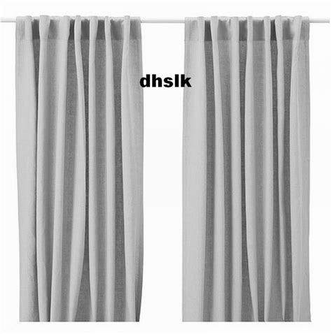 light gray curtain panels ikea aina curtains drapes light gray grey linen 98 quot long