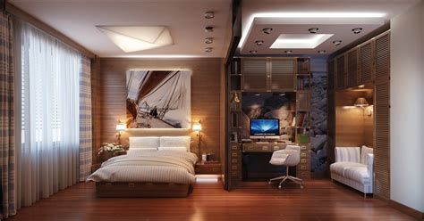 bedroom home office interior design ideas