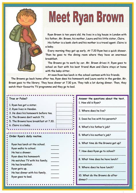 reading comprehension test esl beginners 6148 free esl reading comprehension exercises worksheets