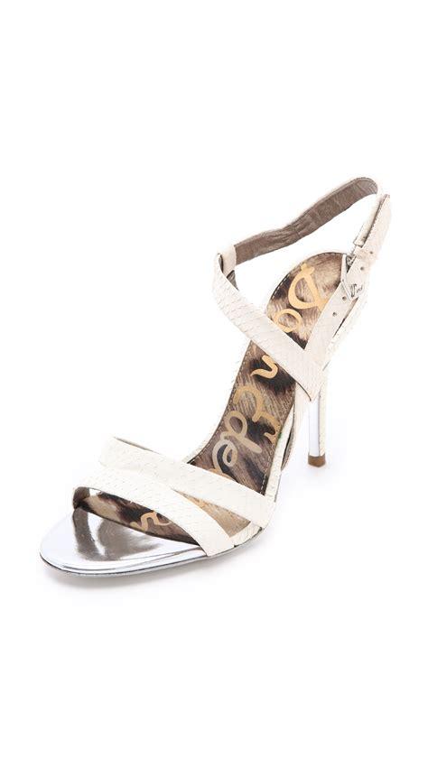 sam edelman high heels sam edelman abbott high heel sandals in white lyst