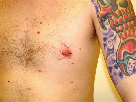 nipple tattoo male nipple piercing