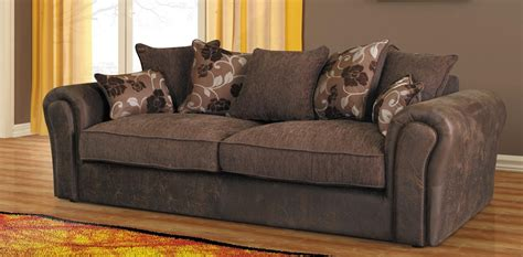 brown settee baron sofa brown 3 seater sofa fabric sofas