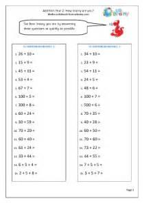 addition brainwhizz 2 addition maths worksheets for year