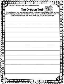 Westward Expansion Essay Prompts by Westward Expansion Writing Prompts By Bow Tie And Tpt