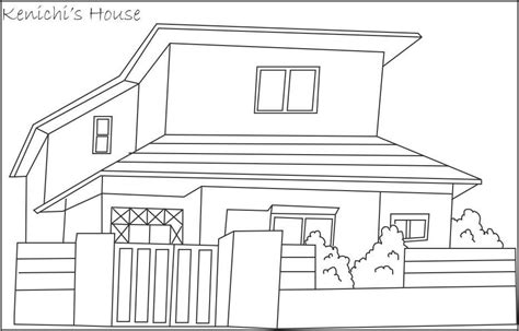 modern house coloring page kenichi s house coloring page for kids