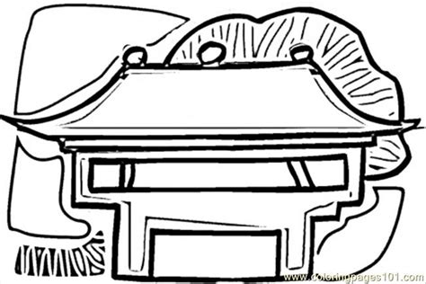 chinese house coloring page chinese pagoda coloring pages