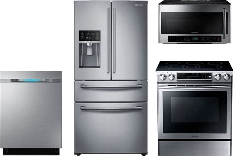samsung kitchen appliances samsung 4 piece kitchen package with ne58f9500ss electric