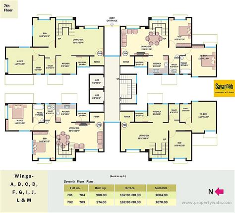7th heaven house floor plan savannah wagholi wagholi pune commercial project