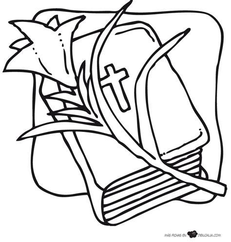imagenes para colorear religiosas catolicas biblia con flor dibujalia dibujos para colorear