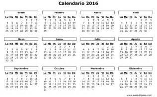 Calendario 2016 Mexico Calendario De M 233 Xico 2016