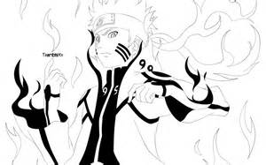 Naruto Bijuu Mode Coloring Pages Sketch Page sketch template