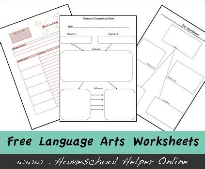 Free Language Arts Worksheets by Best 20 Language Arts Worksheets Ideas On