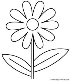 flower coloring page plants