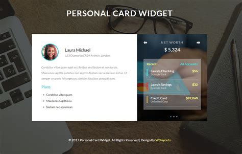 Dragable Card Website Template by Personal Website Mobile Templates Designs Free
