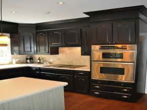 kitchen combine black painted kitchen cabinets black