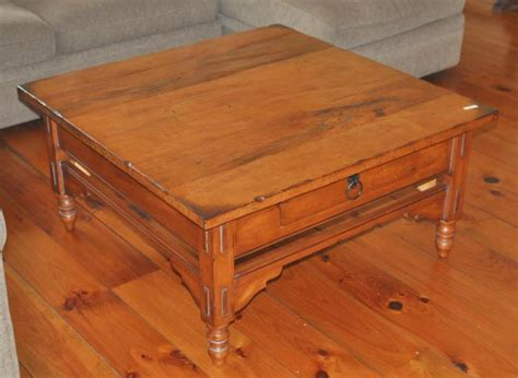 Square Wooden Country Style Coffee Table Country Style Coffee Table