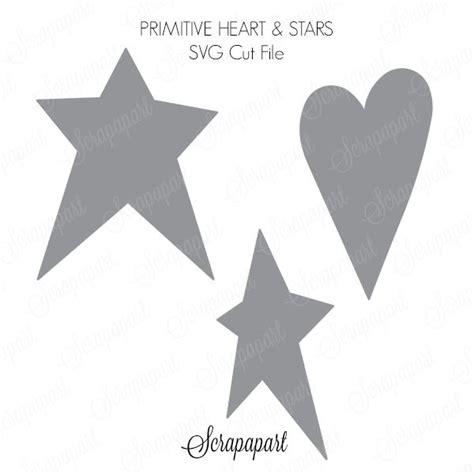 printable primitive star stencil free cut file primitive heart and stars scrapapart