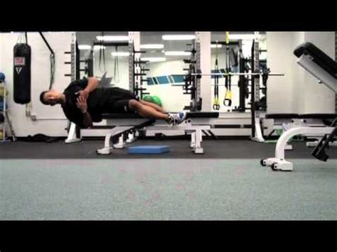oblique bench off bench oblique core training all things gym