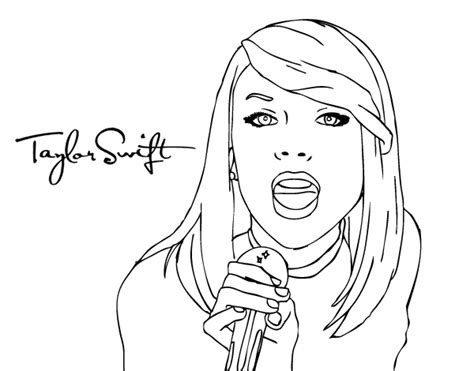 taylor swift singing coloring page coloringcrew com