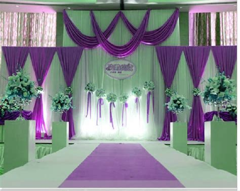 wedding curtains purple wedding stage decorations www imgkid com the