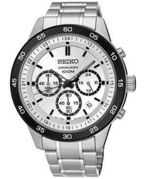 Seiko Chronograph Sks535p1 Silver Stainles Steel Bracelet Sks535 seiko s special value stainless steel bracelet 42mm sur209 price tracking
