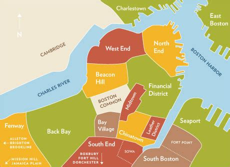 sections of boston map of boston neighborhoods images frompo 1