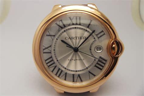 Cartier Swiss Eta White On Brown Leatter Strab replica cartier ballon bleu 42mm gold swiss eta 2824 brown leather spot on
