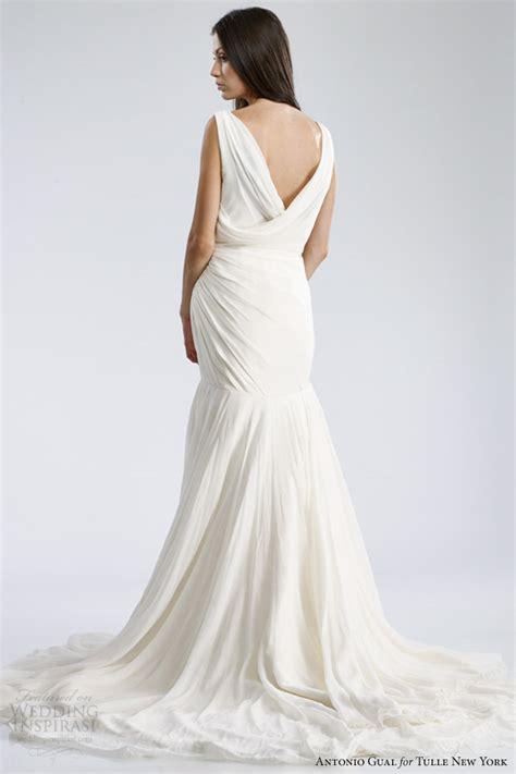 second wedding dresses new york city antonio gual for tulle new york fall 2014 wedding dresses mariposa bridal collection wedding