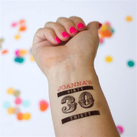 customized temporary tattoos 30 tattoos personalized temporary tattoos