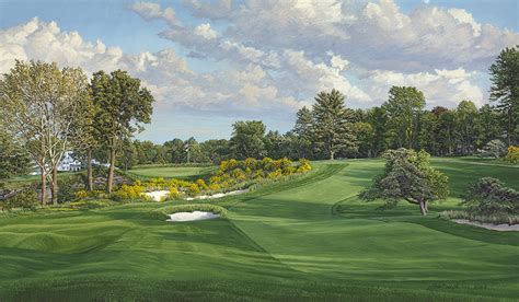linda hartough to offer prints of 16th hole east course merion golf club at 2013 u s open