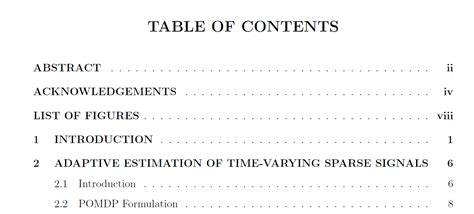 thesis abstract before table of contents formatting table of contents modification how to change