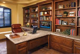 Built In Home Office Furniture Built In Office With Granite Top Creek Furniture