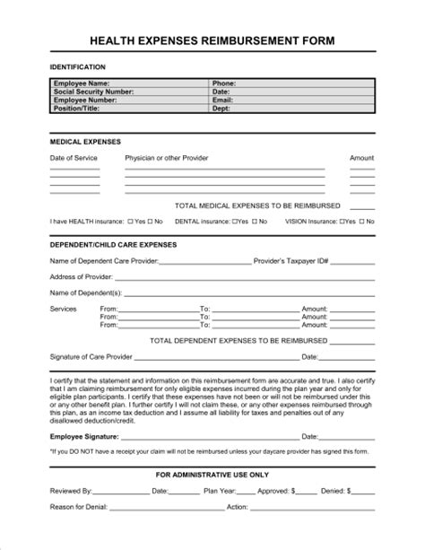 easy to use travel expense report and reimbursement request form
