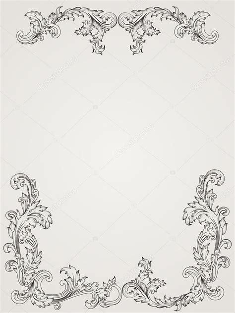 pattern frame illustrator vintage border frame pattern in baroque style antique