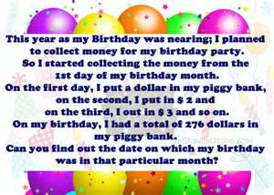 whatsapp riddle collection of money for birthday bhavinionline com